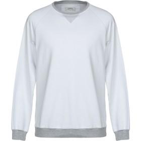 《セール開催中》ALPHA STUDIO メンズ スウェットシャツ ホワイト 50 コットン 95% / ポリウレタン 5%