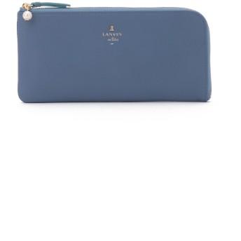 LANVIN en Bleu(BAG) LANVIN en Bleuシャペル パール付きL字ファスナー長財布 財布,ブルー