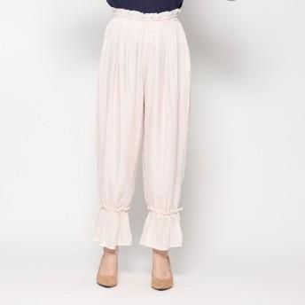 スタイルブロック STYLEBLOCK 裾フレアパンツ (ピンク)