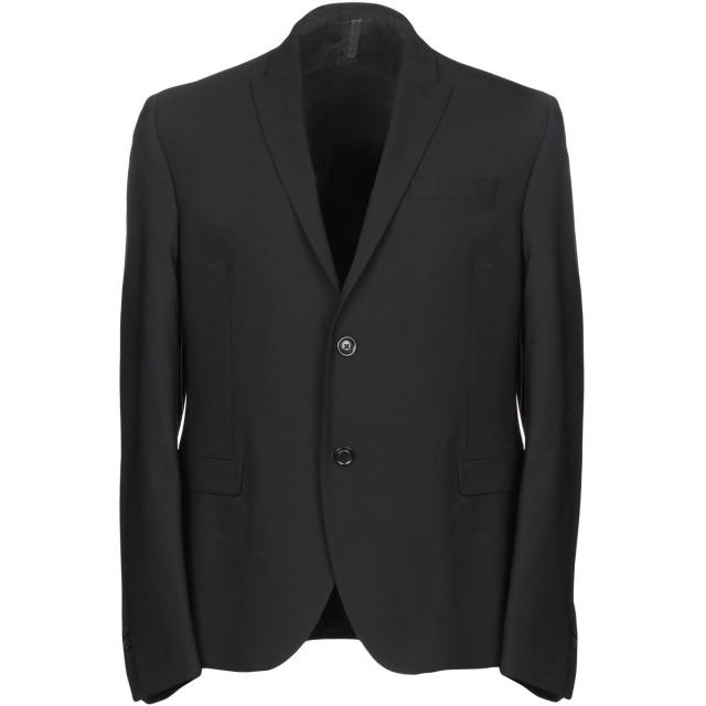 《期間限定セール開催中!》GAZZARRINI メンズ テーラードジャケット ブラック 50 96% バージンウール 4% ポリウレタン
