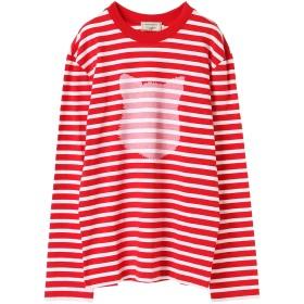 MAISON KITSUNE MARIN TEE-SHIRT FOX HEAD PRINT Tシャツ・カットソー,RED WHITE