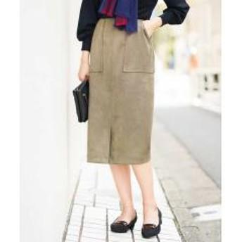 フェイクスエードナロータイトスカート[WEB限定サイズ]【お取り寄せ商品】