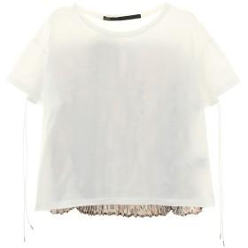 muller of yoshiokubo コットンバックプリーツTシャツ Tシャツ・カットソー,white