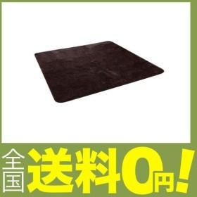 イケヒコ ラグ カーペット 1.5畳 無地 フィラメント糸 『フィリップ』 ブラウン 約130×185cm ホットカーペット対