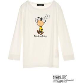 BRAHMIN BRAHMIN/ブラーミン PEANUTS 50YEARS スヌーピープリントTシャツ アウトレット Tシャツ・カットソー,オフホワイト