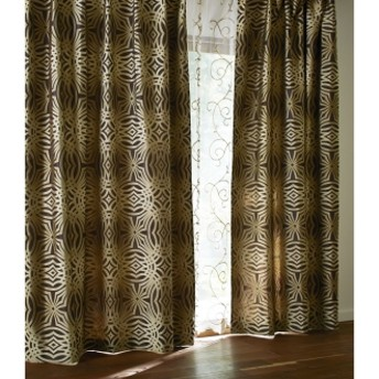 幅100x丈178cm(1枚)(Beata/ビアータ ホテル仕様国産ジャカード織カーテン)ゴールド
