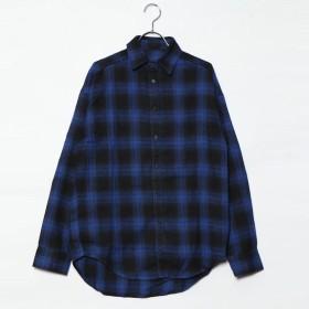 スタイルブロック STYLEBLOCK 先染めチェックビッグシャツ (ブルー)