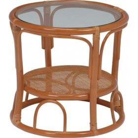 テーブル RT-470 幅43cm×奥行43cm×高さ40cm 天板強化ガラス 円形テーブル