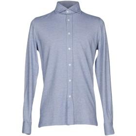 《期間限定セール開催中!》GIAMPAOLO メンズ シャツ ブルー L コットン 100%