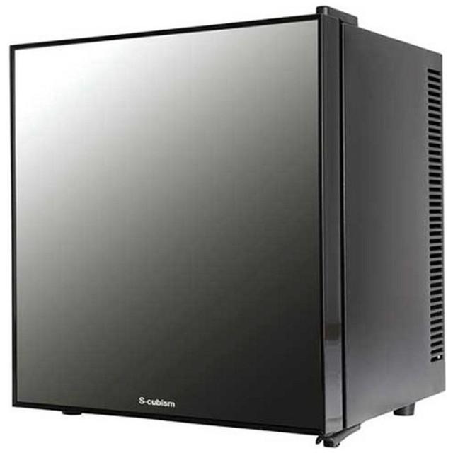 WRH-M120 冷蔵庫 S-cubism ブラック [1ドア /右開き/左開き付け替えタイプ /20L]