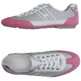 《期間限定セール開催中!》HOGAN レディース スニーカー&テニスシューズ(ローカット) ピンク 35 紡績繊維 / 革