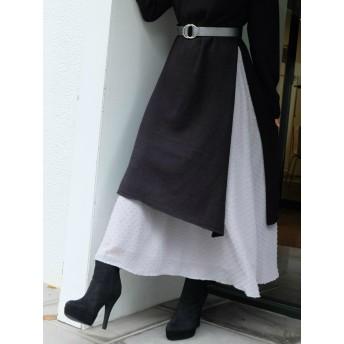 ロングスカート - RESEXXY 【WEB限定】ドットデザインロングスカート