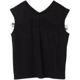 MARECHAL TERRE バックリボンカットソー Tシャツ・カットソー,ブラック