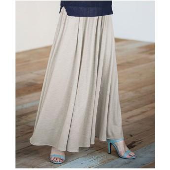 Ranan ふんわりマキシスカート(グレージュ)