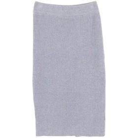 ティティベイト titivate ミディアム丈ニットタイトスカート (ライトグレー)