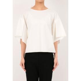 Rito ウォッシャブル タックスリーブオーバーサイズティーシャツ Tシャツ・カットソー,ホワイト