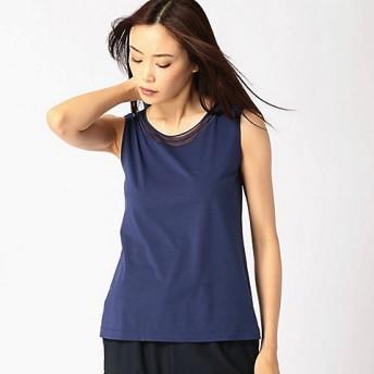 【送料無料】<COMME CA/コムサ トールサイズ> 大きいサイズ チュール刺繍タンクトップ(3421EF10) ブルー 【三越・伊勢丹/公式】
