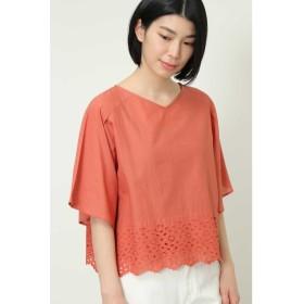 ◆インドカットワーク刺繍ブラウス コーラルオレンジ