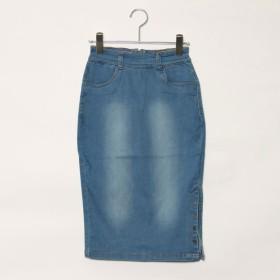 スタイルブロック STYLEBLOCK ひざ丈タイトデニムスカート (ブルー)