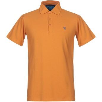 《期間限定セール開催中!》TRUSSARDI JEANS メンズ ポロシャツ 赤茶色 XS コットン 100%