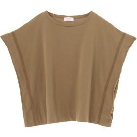 assiette 【assiette/アシェット】オフショルダー Tシャツ Tシャツ・カットソー,ブラウン