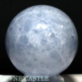 ☆置石一点物☆【天然石 置き石】丸玉 ブルーカルサイト 約83mm No.29