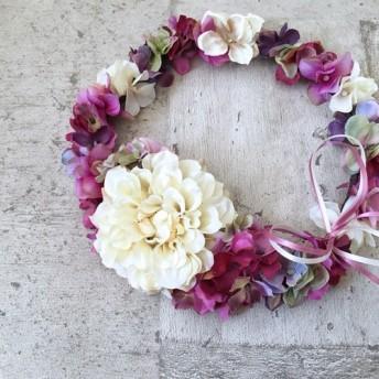 パープルピンクの花冠