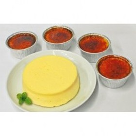 生熟チーズケーキ&ジャージー乳のアイスブリュレ