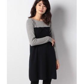 【SALE(三越)】<MISS J> ウール リボンニットドレス ネービーブルー【三越・伊勢丹/公式】