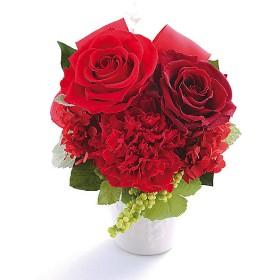 <Belles Fleurs Tokyo/ベル・フルール> バラとリボンのアレンジメント レッド【三越・伊勢丹/公式】