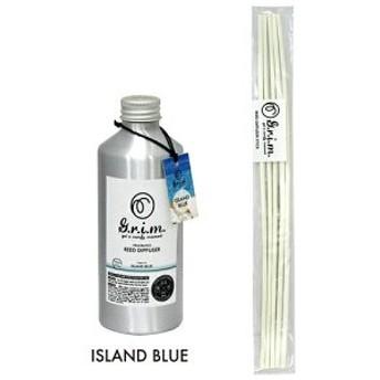 【即日発送】g.r.i.m リードディフューザー 180ml アイランドブルー OA-GRM-4-2 芳香剤