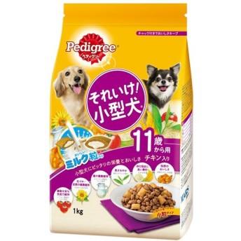 マースジャパンリミテッド:ペディグリー それいけ!小型犬 11歳から用 チキン入り 1kg PK5