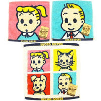 【アウトレット】オサムグッズ ハンドタオル3枚セット ハロー PH209601 1袋(3枚:3柄×各1) 林