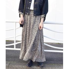 シップス 《追加予約》Khaju:フラワープリントロングスカート レディース ブラック ONESIZE 【SHIPS】