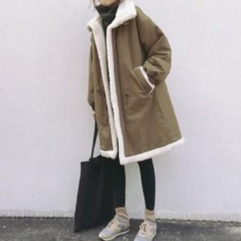[秋冬新作★NewItem]5サイズ!ビッグポケット付きモコモコ温かいボアコート/ジャケット/レディース