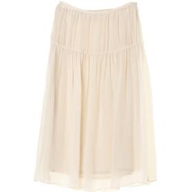 08sircus ウォッシャブル キュプラクレープギャザースカート ひざ丈スカート,ivory