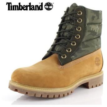 ティンバーランド Timberland メンズ ブーツ シックスインチ プレミアム パファーブーツ A1ZRH 1 イエロー カモフラ 靴 防水 防寒 セール