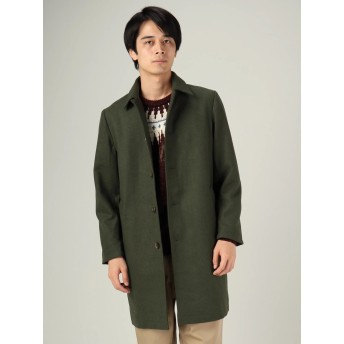 【5,000円以上お買物で送料無料】フェイクメルトンステンカラーコート