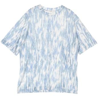 CLANE ウォッシャブル グラフィックプリントトップス Tシャツ・カットソー,BLUE