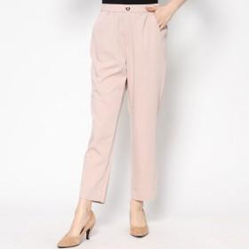 ベルーナ BELLUNA レーヨン混素材テーパードパンツ63丈 (ピンク)