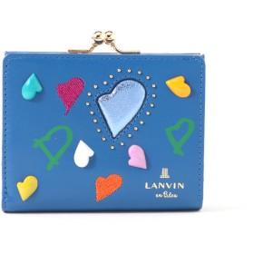 LANVIN en Bleu(BAG) LANVIN en Bleu ランバンオンブルー プランダムール 口金二つ折り財布 財布,ブルー