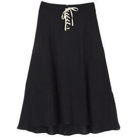 ティティベイト titivate フロントレースアップフレアミディアムスカート (ブラック)