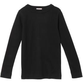 a mong gout シュクレフライスモックネック Tシャツ・カットソー,ブラック