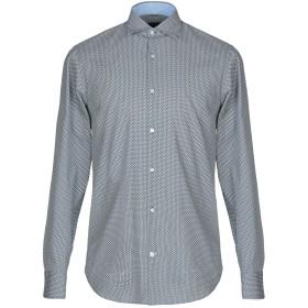 《セール開催中》HENRY COTTON'S メンズ シャツ ブルーグレー 38 コットン 100%