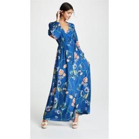ボルゴデノール ドレス 長袖 レディース【Borgo de Nor Francesca Dress】Blue Multi