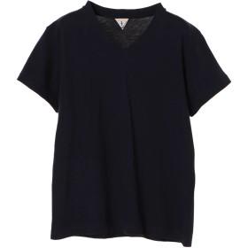 FilMelange フィルメランジェ/ビクター VネックTシャツ Tシャツ・カットソー,ネイビー