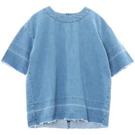 WHEIR Bobson デニムTシャツ Tシャツ・カットソー,BLEACH BLUE