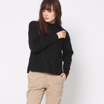 リネーム Rename ケーブル編みセーター (ブラック)
