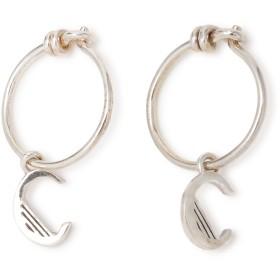RACHEL JACKSON Initial earrings C【シルバー925】 ピアス,シルバー
