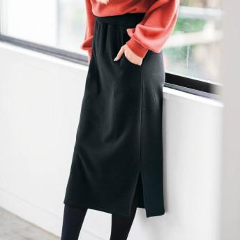 ジーラ バイ リュリュ GeeRa by RyuRyu 裏シャギースリット入りタイトスカート (ブラック)